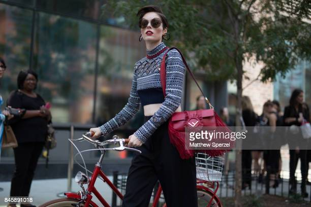 Coco Rocha is seen attending 31 Phillip Lim during New York Fashion Week wearing Fendi on September 11 2017 in New York City