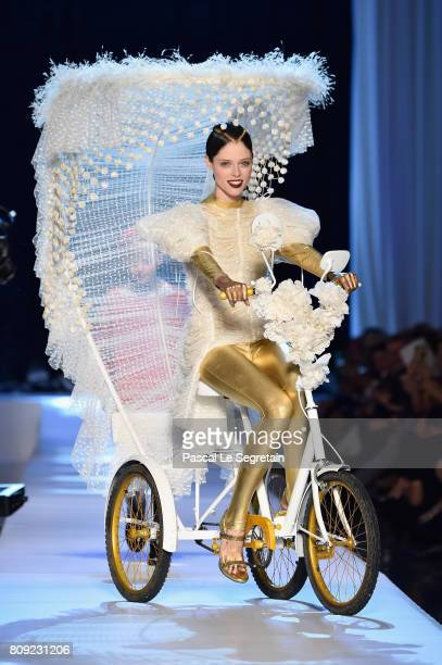 Coco Rocha is seen on the runway during the Jean Paul Gaultier Haute Couture Fall/Winter 20172018 show as part of Haute Couture Paris Fashion Week on...