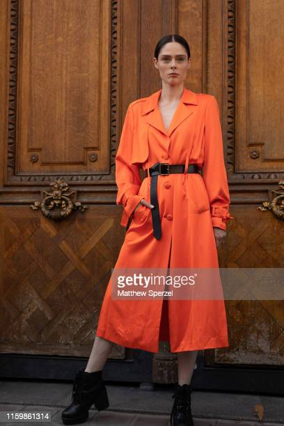 Coco Rocha is seen on the street during Paris Fashion Week Haute Couture on July 03 2019 in Paris France