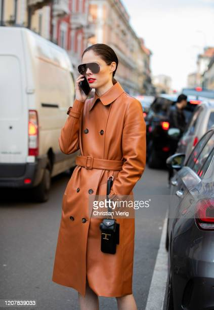 Coco Rocha is seen outside Tods during Milan Fashion Week Fall/Winter 2020-2021 on February 21, 2020 in Milan, Italy.
