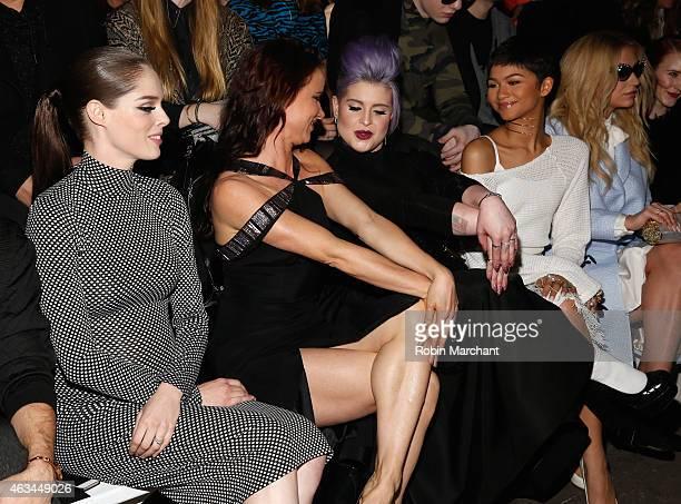 Coco Rocha, Juliette Lewis, Kelly Osbourne, Zendaya and Kesha attend Christian Siriano Runway at ArtBeam on February 14, 2015 in New York City.