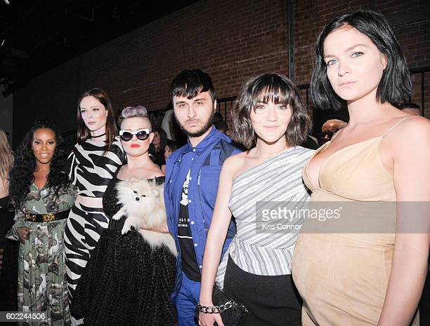 Coco Rocha Kelly Osbourne Brad Walsh June Ambrose Isabelle Fuhrman and Leigh Lezark attend the Christian Siriano Fashion show during new York Fashion...