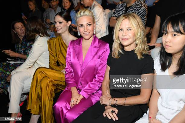 Coco Rocha Pixie Lott and Meg Ryan attend the Schiaparelli Haute Couture Fall/Winter 2019 2020 show as part of Paris Fashion Week on July 01 2019 in...