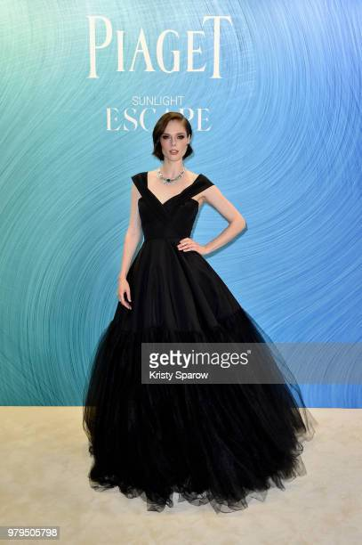Coco Rocha poses at the Launch of Piaget sunlight escape at Palais d'Iena on June 18 2018 in Paris France