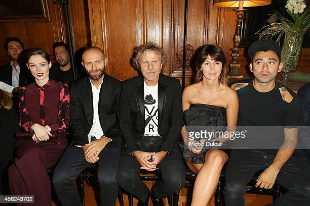 Coco Rocha, Stefano Rosso, Renzo Rosso, Arianna Alessi and Nicola Formichetti attend the Viktor & Rolf show as part of the Paris Fashion Week...