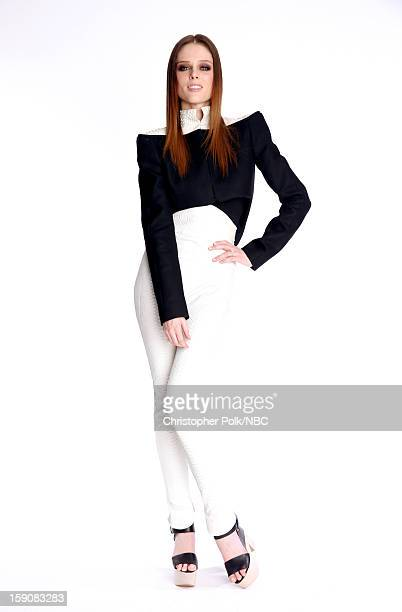 Coco Rocha Supermodel Coach for 'The Face' attends the 2013 Winter TCA Tour Day 4 at The Langham Huntington Hotel and Spa on January 7 2013 in...