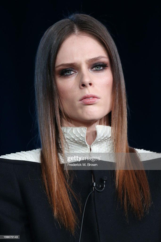Coco Rocha, Supermodel Coach speaks onstage at the 'The Face' panel discussion during the Oxygen portion of the 2013 Winter TCA Tour- Day 4 at the Langham Hotel on January 7, 2013 in Pasadena, California.