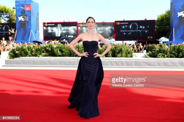 Coco Rocha walks the red carpet ahead of the 'The Third Murder ' screening during the 74th Venice Film Festival at Sala Grande on September 5 2017 in...