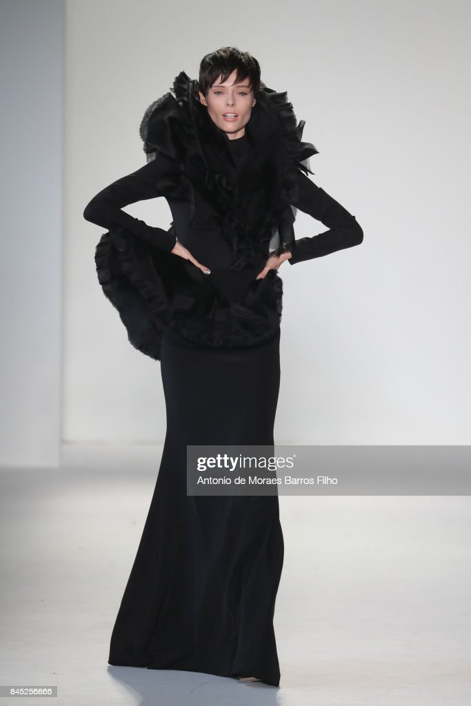 Coco Rocha walks the runway at Christian Siriano show during New York Fashion Week: The Shows at Pier 59 on September 9, 2017 in New York City.