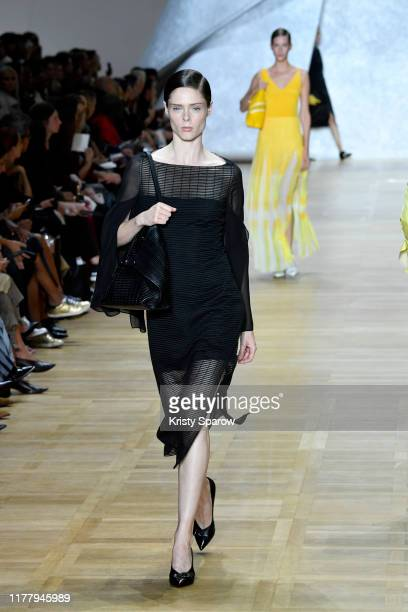 Coco Rocha walks the runway during the Akris Womenswear Spring/Summer 2020 show as part of Paris Fashion Week on September 29 2019 in Paris France