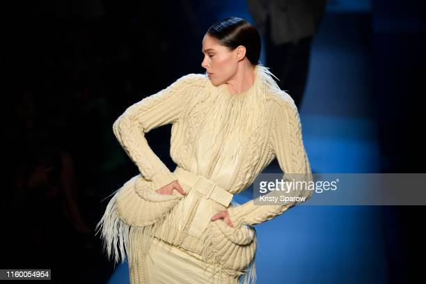 Coco Rocha walks the runway during the Jean Paul Gaultier Haute Couture Fall/Winter 2019 2020 show as part of Paris Fashion Week on July 03 2019 in...