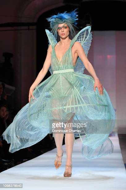 Coco Rocha walks the runway during the JeanPaul Gaultier Haute Couture Spring Summer 2019 show as part of Paris Fashion Week on January 23 2019 in...