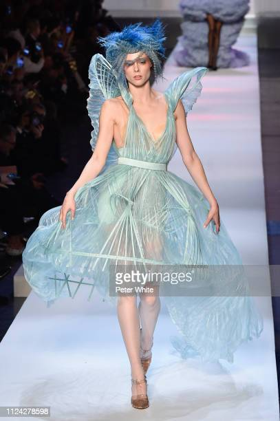 Coco Rocha walks the runway during the Jean-Paul Gaultier Spring Summer 2019 show as part of Paris Fashion Week on January 23, 2019 in Paris, France.