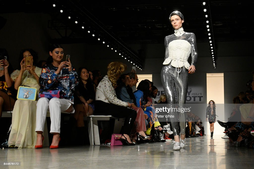 Coco Rocha walks the runway during the Jeremy Scott fashion show during New York Fashion Week on September 8, 2017 in New York City.