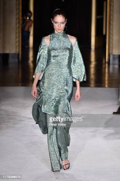 Coco Rocha walks the runway for Christian Siriano during New York Fashion Week: The Shows on September 07, 2019 in New York City.