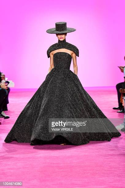 Coco Rocha walks the runway for Christian Siriano Ready to Wear Fall/Winter 2020-2021 fashion show during New York Fashion Week on February 06, 2020...
