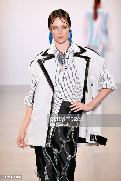 Coco Rocha walks the runway for Victoria Hayes Spring/Summer 2020 during New York Fashion Week The Shows at Gallery II at Spring Studios on September...