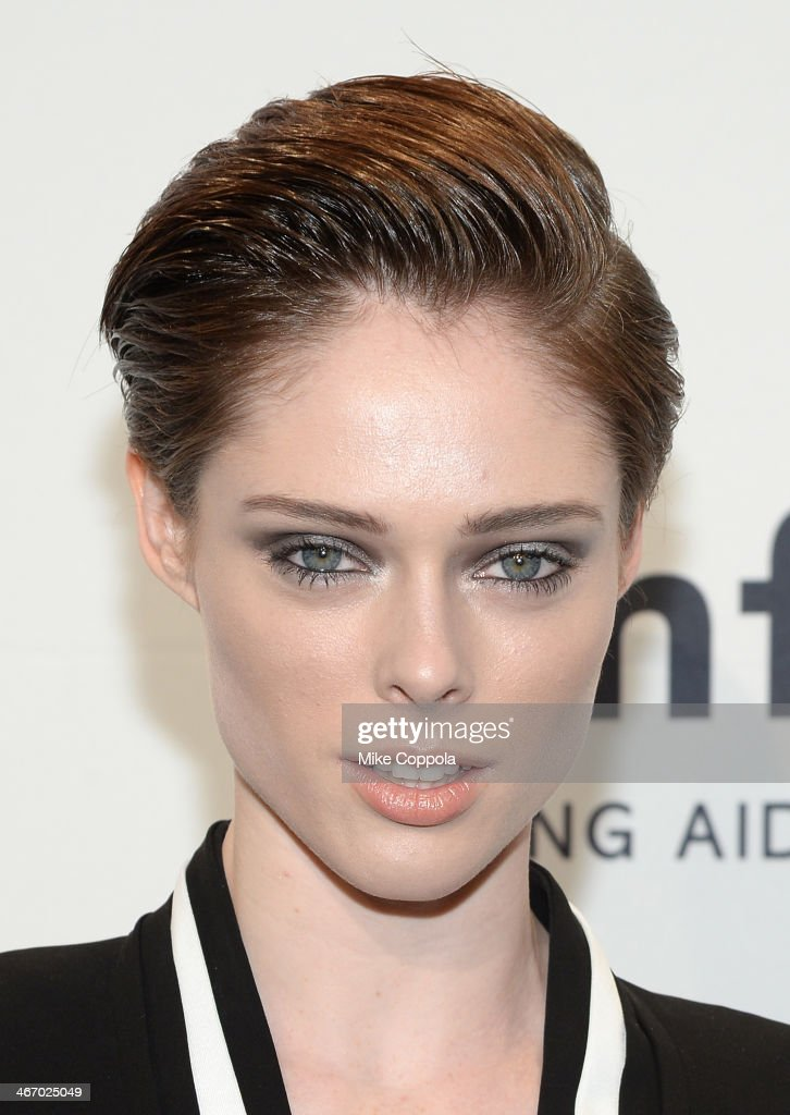 Coco Rocha, wearing Bulgari, attends the 2014 amfAR New York Gala at Cipriani Wall Street on February 5, 2014 in New York City.