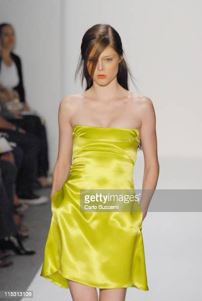 Coco Rocha wearing Chaiken Spring 2007 during Olympus Fashion Week Spring 2007 Chaiken Runway at The Atelier Bryant Park in New York City New York...