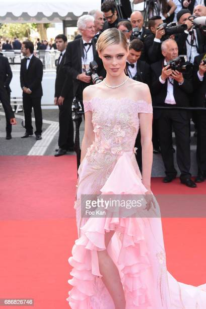 Coco Rochas attends the 'The Meyerowitz Stories' screening during the 70th annual Cannes Film Festival at Palais des Festivals on May 21 2017 in...