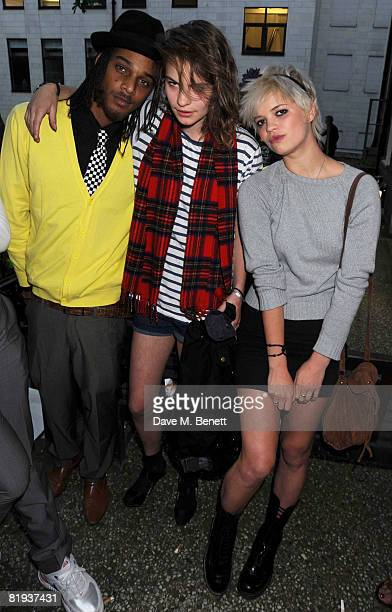 Coco Sumner and Pixie Geldof attend the BT Total Broadband Launch Party at the In and Out, St James's Square on July 14, 2008 in London, England.