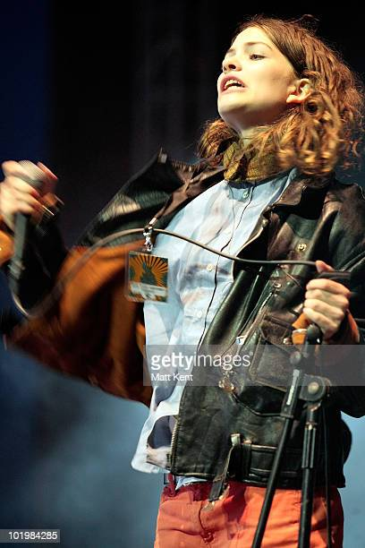 Coco Sumner of I Blame Coco performs the Big Top stage on day 1 of the Isle Of Wight Festival at Seaclose Park on June 11 2010 in Newport Isle of...