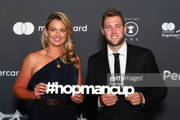 Coco Vandeweghe and Jack Sock of the United States arrive at the 2018 Hopman Cup New Years Eve Ball at Crown Perth on December 31 2017 in Perth...