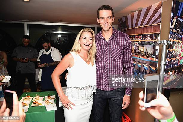 Coco Vandeweghe poses with tennis player Ivo Karlovic attends Taste of Tennis New York on August 25 2016 in New York City