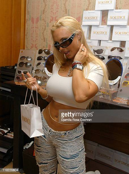 CoCo wearing Your Dior Sunglasses during Solstice Sunglass Boutique at the Lucky/Cargo Club Day 2 at Ritz Carlton in New York City New York United...