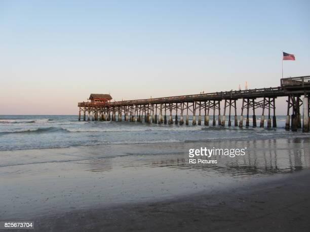 cocoa beach pier, fl, usa - cocoa beach stock pictures, royalty-free photos & images