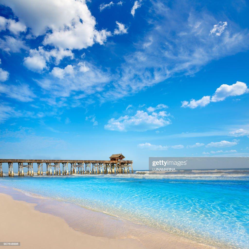 Cocoa Beach pier in Cape Canaveral Florida : Stock Photo
