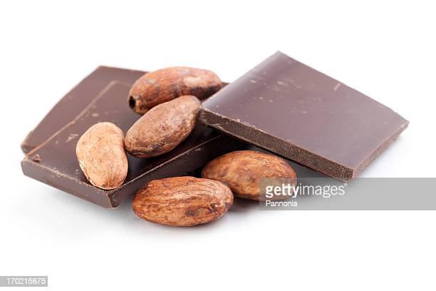 Kakaobohne mit Schokolade