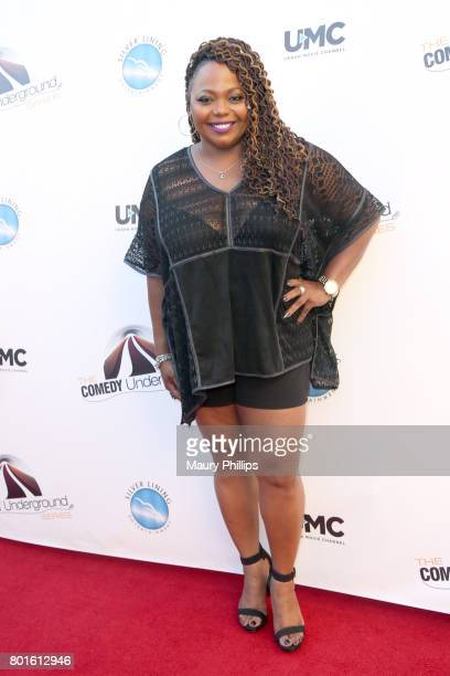 Cocoa Brown attends The Comedy Underground Series at The Alex Theatre on June 26 2017 in Glendale California