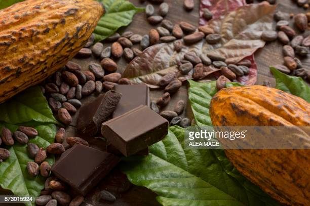 cocoa composition - chocolate stock pictures, royalty-free photos & images