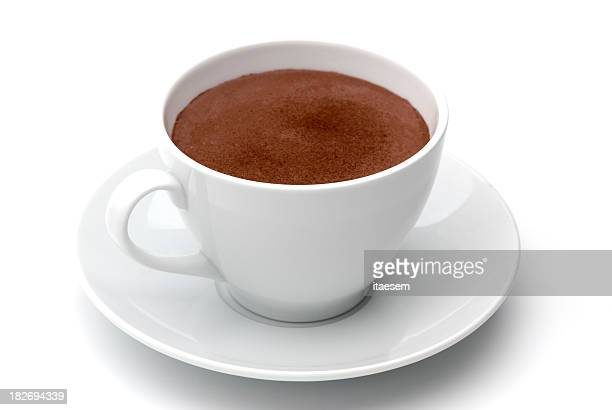 Cocoa in white cup