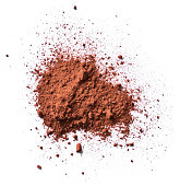 Cocoa or coffee powder, isolated
