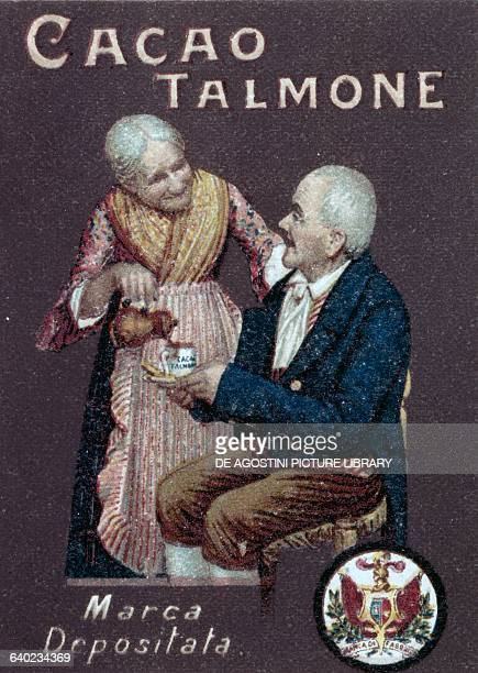 Cocoa Talmone poster by Oschner Italy 19th century