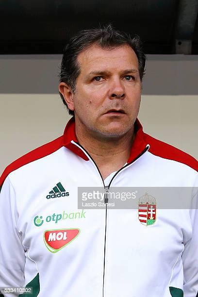 Cocoach Andreas Moller of Hungary during the International Friendly match between Hungary and Ivory Coast at Groupama Arena on May 20 2016 in...