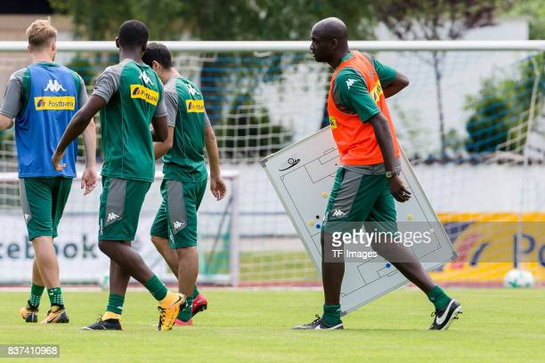 Cocoach Otto Addo of Borussia Moenchengladbach during a training session at the Training Camp of Borussia Moenchengladbach on July 19 2017 in...