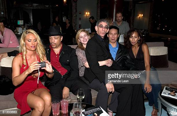 Cocoher husband IceT Diane Neal Richard Belzer BD Wong and Tamara Tunie attend the party for cast members of all three 'Law Order' shows at One...