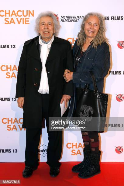 CoComposer of the Movie Music Francis Lai and his wife Dagmar attend the 'Chacun sa vie' Paris Premiere at Cinema UGC Normandie on March 13 2017 in...