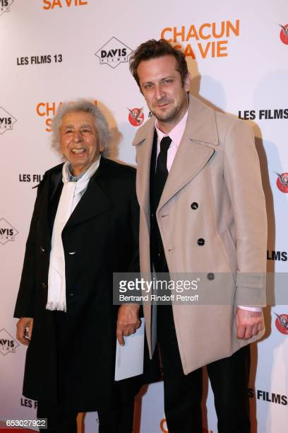 CoComposers of the Movie Music Francis Lai and Laurent Couson attend the 'Chacun sa vie' Paris Premiere at Cinema UGC Normandie on March 13 2017 in...