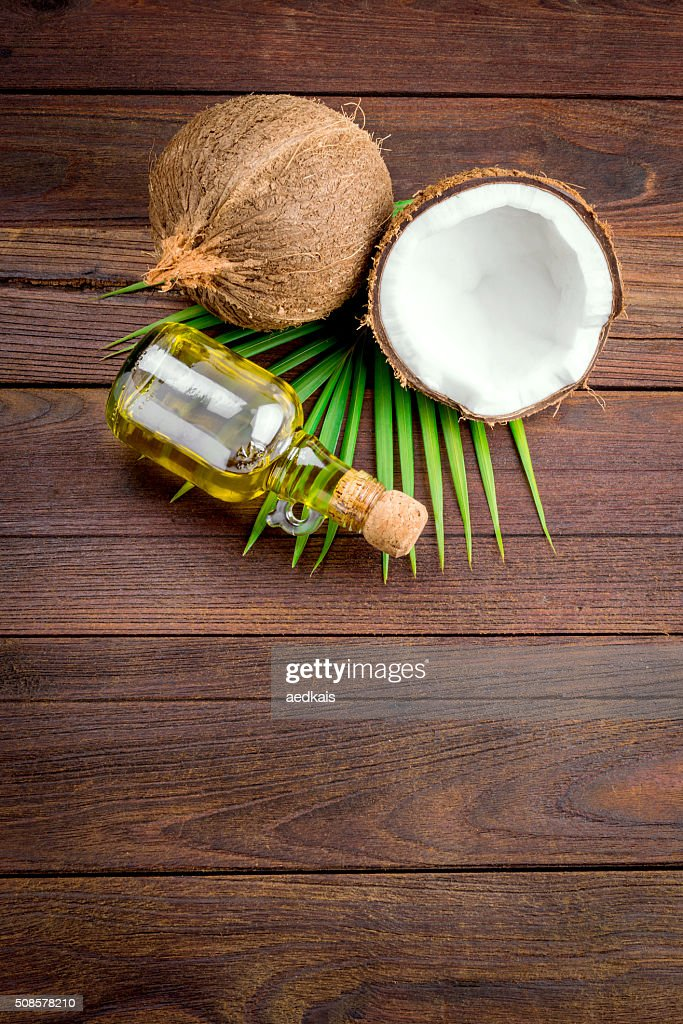 Coconut and coconut oil : Stockfoto