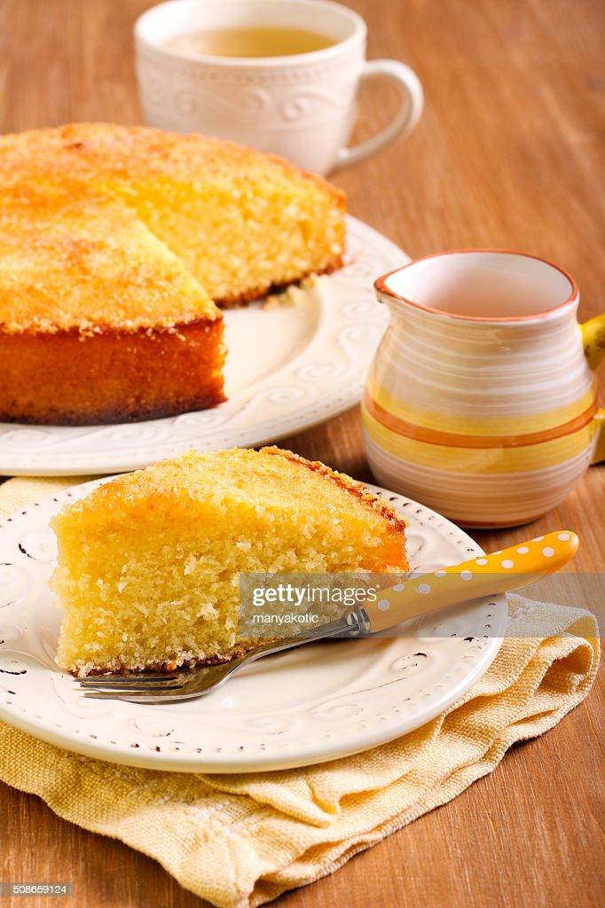 Coconut citrus syrup cake : Stock Photo