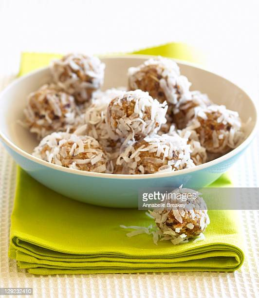 Coconut Covered Healthy Snack Energy Balls