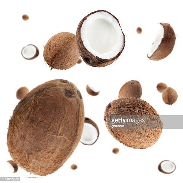 coconut explosion - coconut stock pictures, royalty-free photos & images