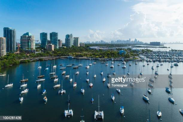 coconut grove bay - grove stock-fotos und bilder