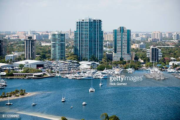 coconut grove from the air - grove stock pictures, royalty-free photos & images