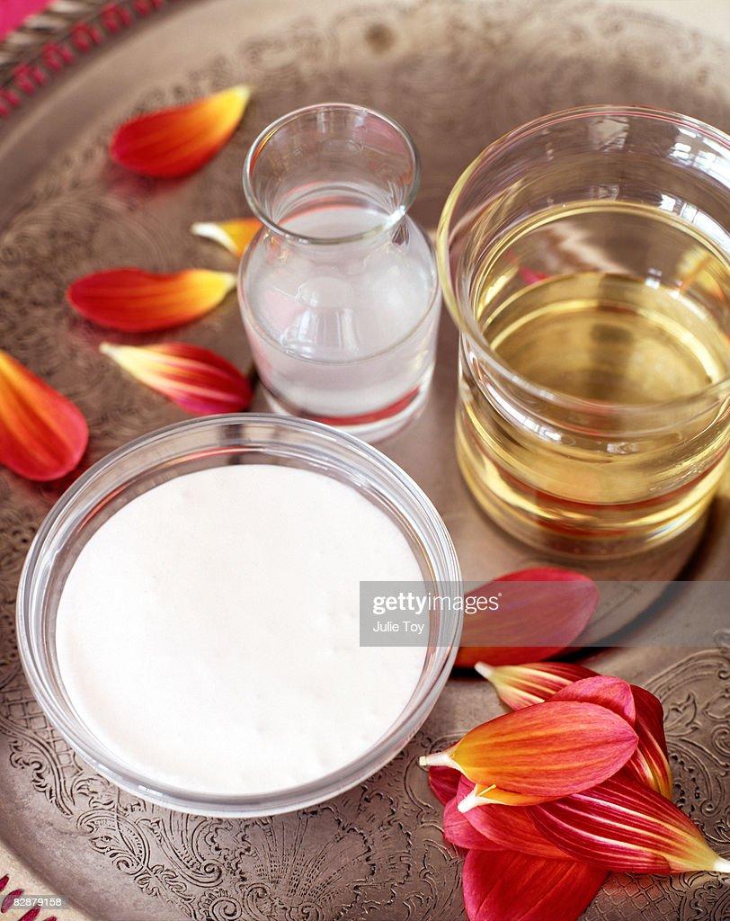 coconut oil and coconut milk : Stock Photo