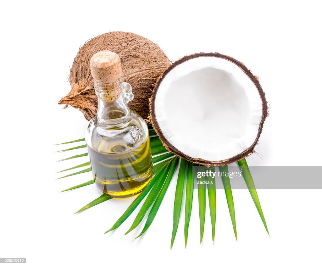 Olio di cocco per Terapia alternativa : Foto stock